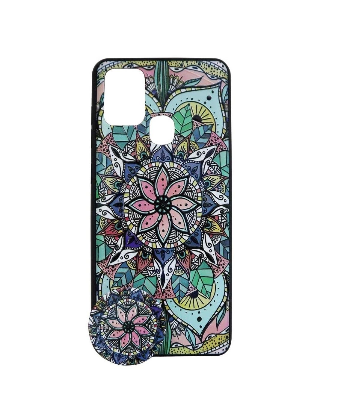 تصویر از کاور هولدردار طرح اسلیمی مناسب برای گوشی موبایل سامسونگ Galaxy A21s