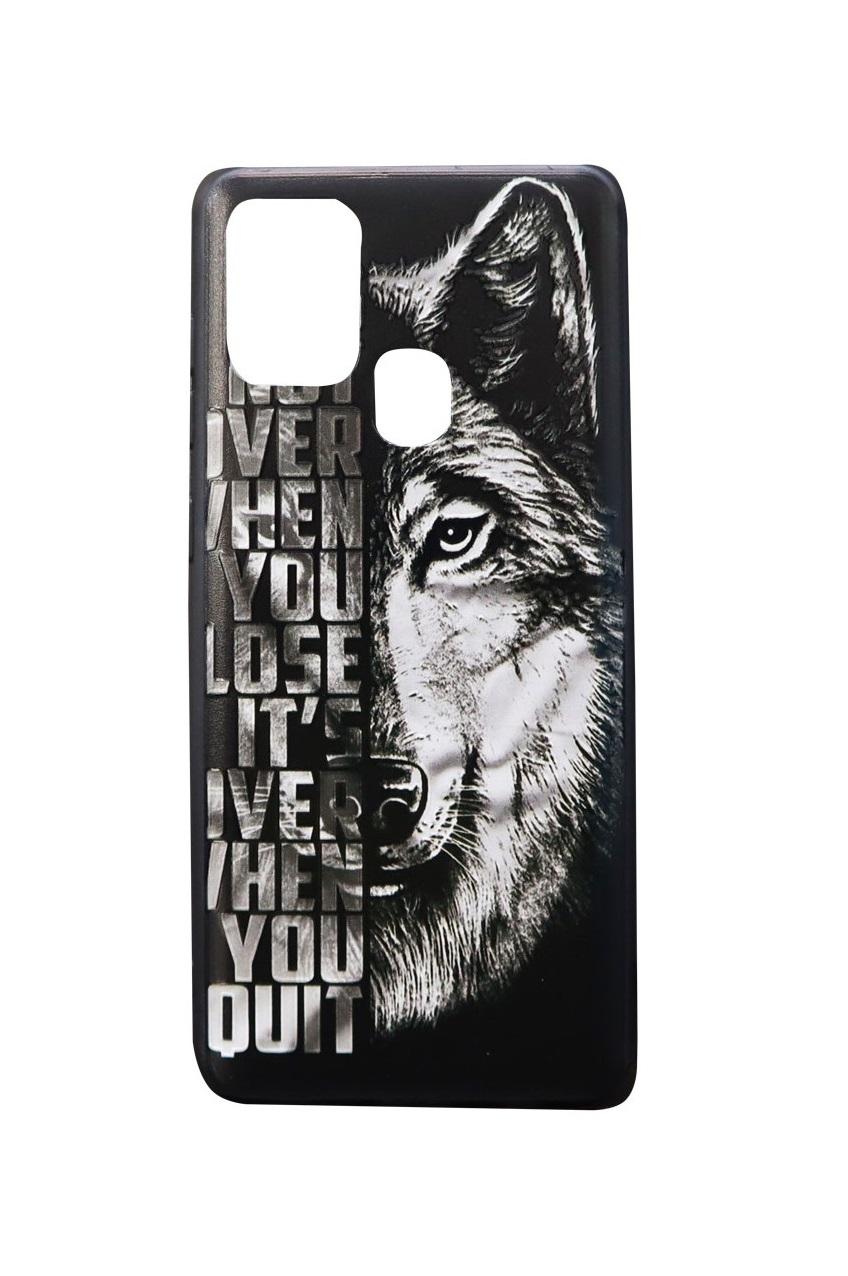 تصویر از کاور هولدردار طرح گرگ مناسب برای گوشی موبایل سامسونگ Galaxy A21s
