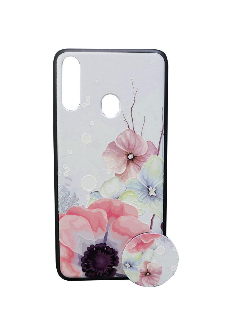 تصویر از کاور هولدردار طرح گل مناسب برای گوشی موبایل سامسونگ Galaxy A20s