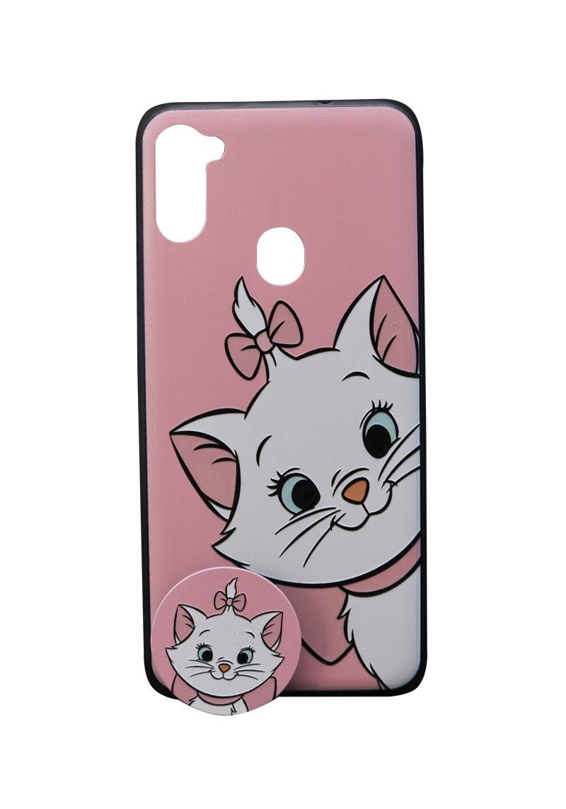 تصویر از کاور هولدردار طرح گربه مناسب برای گوشی موبایل سامسونگ Galaxy A11