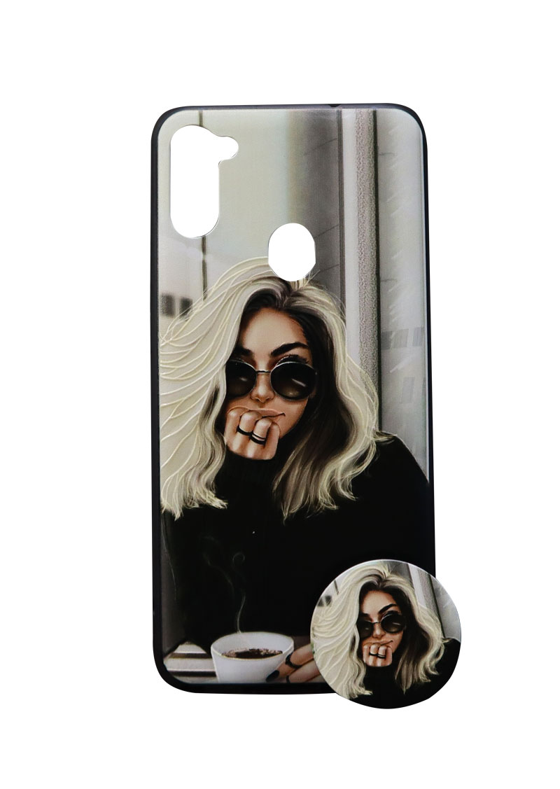تصویر از کاور هولدردار طرح دخترانه مناسب برای گوشی موبایل سامسونگ Galaxy A11