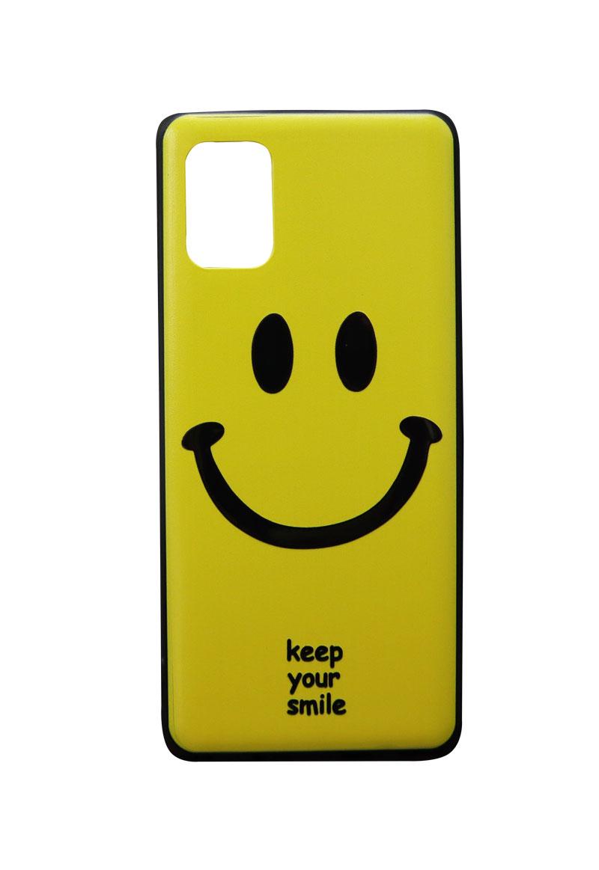تصویر از کاور هولدردار طرح لبخند مناسب برای گوشی موبایل سامسونگ Galaxy A31