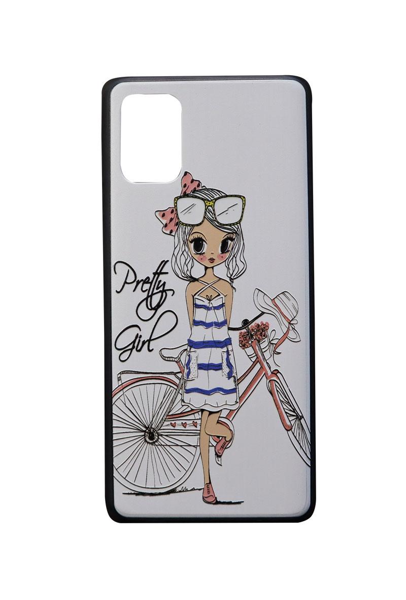 تصویر از کاور هولدردار طرح دخترانه مناسب برای گوشی موبایل سامسونگ Galaxy A51